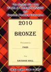 A bronze medal for our Sausage Rolls 2010